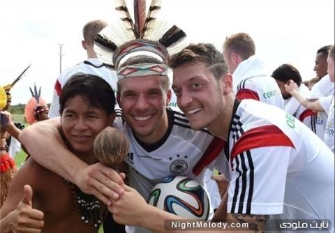 سرخ پوستان میهمان تیم ملی آلمان