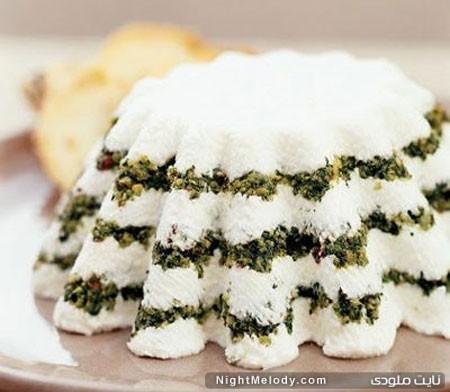 کیک ماست با سبزیجات معطر