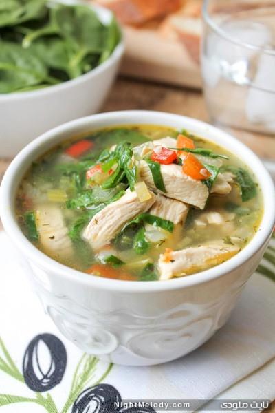 طرز تهیه سوپ مرغ و سبزیجات