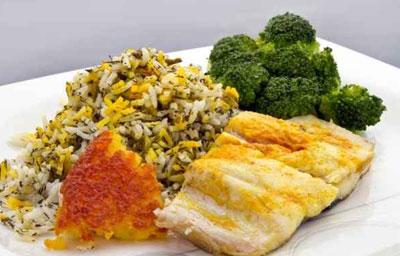 سبزی پلو ماهی هندی مخصوص چله تابستان