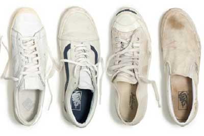 تمیز کردن کفش های کتانی سفید